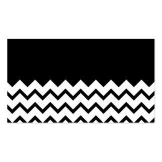 Black and White. Part Zig Zag, Part Plain Black. Business Cards