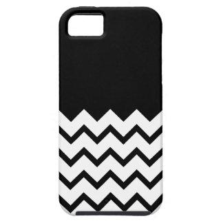 Black and White. Part Zig Zag, Part Plain Black. iPhone 5 Cover