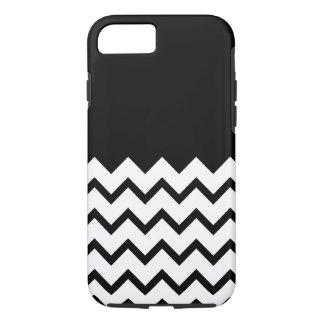 Black and White. Part Zig Zag, Part Plain Black. iPhone 8/7 Case