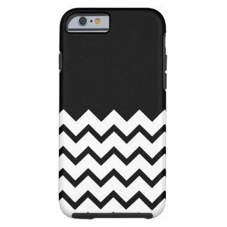 Black and White. Part Zig Zag, Part Plain Black. Tough iPhone 6 Case