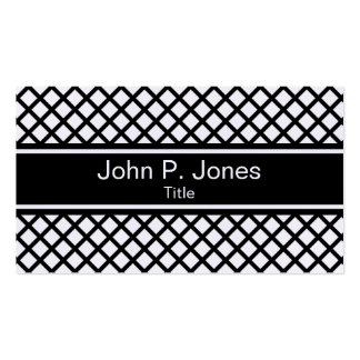 Black and White Pattern Business Card