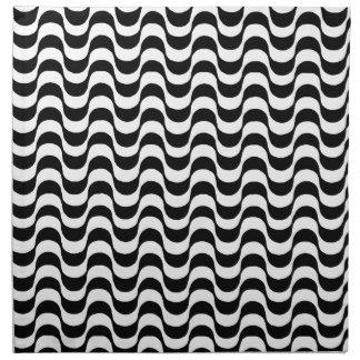 black and white pattern, copacabana napkin