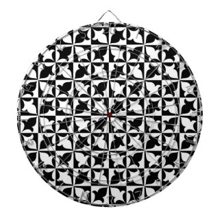 Black and white pattern dartboard