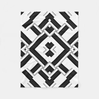 Black And White Pattern Fleece Blanket