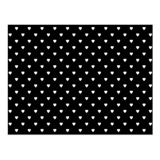Black and White Pattern - Hearts. Custom Postcard