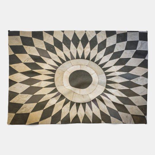 Black and white pattern kitchen towel