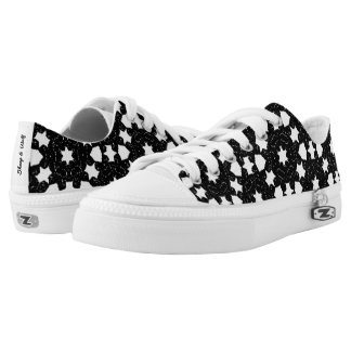 Black and White Pattern Low Tops