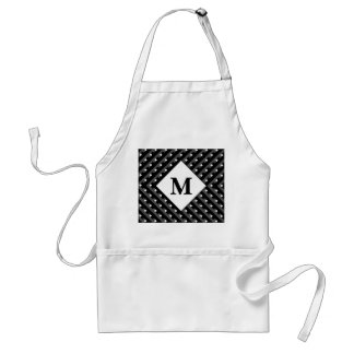 Black and White pattern Monogram Standard Apron