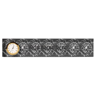 Black and white pattern name plate