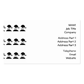 Black and White Pattern of Rhea Birds. Pack Of Standard Business Cards
