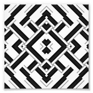 Black and White Pattern Photo Print