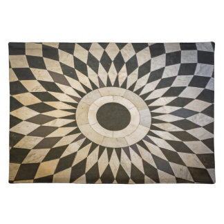 Black and white pattern placemat