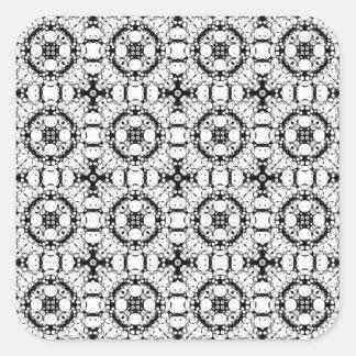 Black And White Pattern Square Sticker