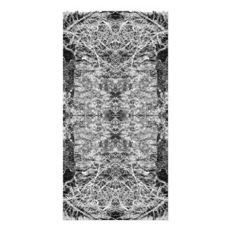 Black and White Pattern. Trees and Stone. Personalized Photo Card