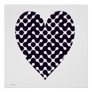 Black and White Patterned Poster
