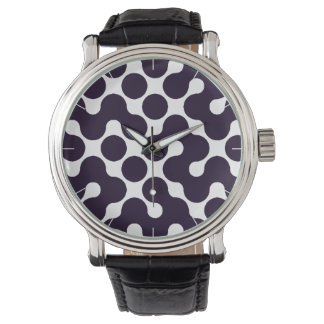 Black and White Patterned Watch