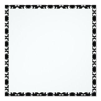 Black and White Patterns | Hexagons II 13 Cm X 13 Cm Square Invitation Card