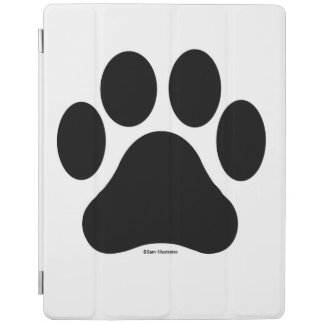 Black and White Paw Print iPad Cover