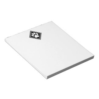 Black-and-White Paw Print Note Pad