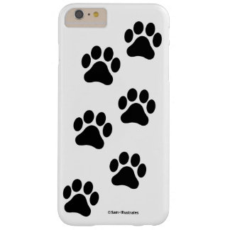 Black and White Paw Print Pattern iPhone Case