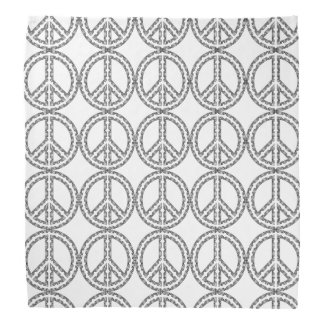 Black and White Peace Sign Bandanna