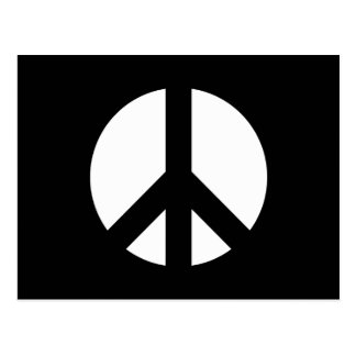 Black and White Peace Sign Postcard