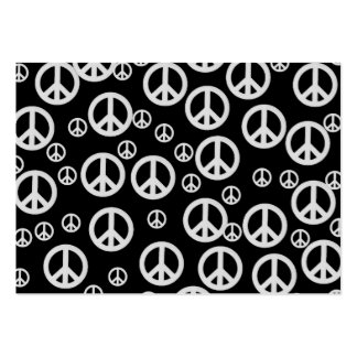 Black and White Peace Signs Business Cards
