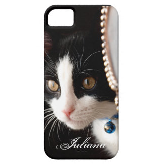 Black and White Peek a Boo Cat iPhone 5 Case