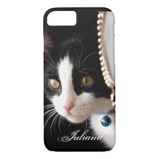 Black and White Peek a Boo Cat iPhone 7 case