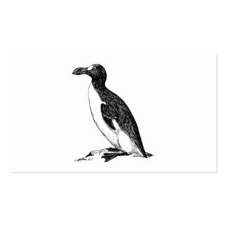 Black and White Penguin Bird Art Pack Of Standard Business Cards