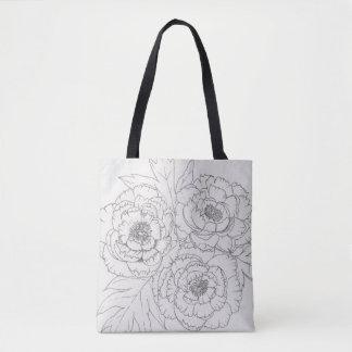 Black and white Peony Tote-bag Tote Bag