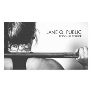 Black and White Personal Trainer Fitness Training Pack Of Standard Business Cards