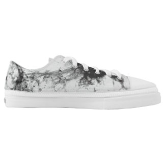 Black and White Phoenix Printed Shoes
