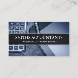 Accounting business cards business card printing zazzle uk black and white photo accountant business card reheart Image collections