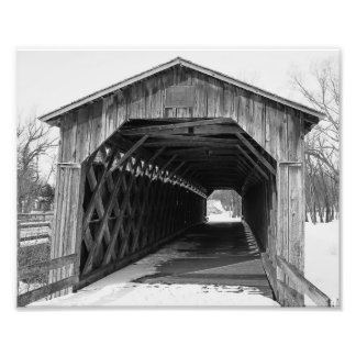 Black and White Photo Cedarburg, Wisconsin Bridge