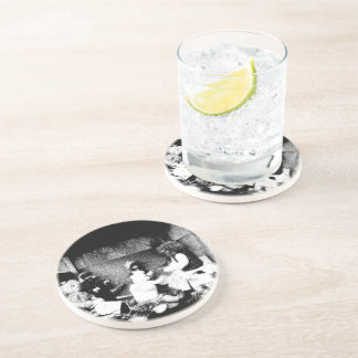 Black and white photo coasters