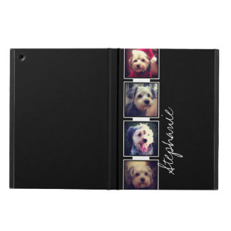 Black and White Photo Collage Squares with name Case For iPad Air