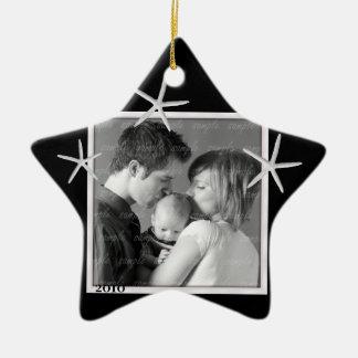Black and White Photo Frame Ornament