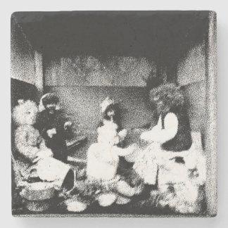 Black and white photo stone coaster
