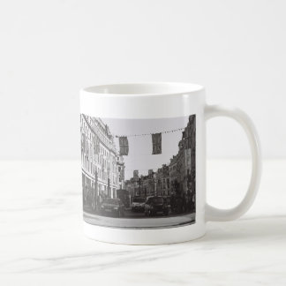 Black and white photo london oxford circus coffee mug