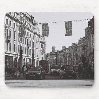 Black and white photo london oxford circus mouse mat