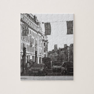 Black and white photo london oxford circus puzzles