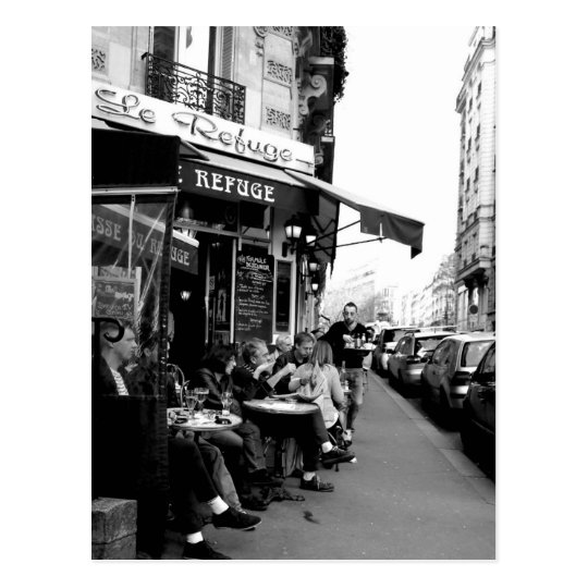 Black and White photo of Le Refuge Cafe
