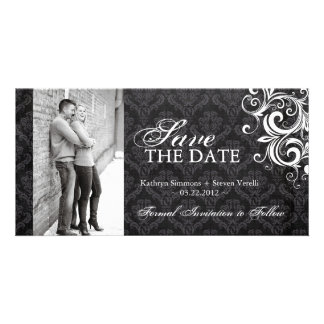Black and White Photo Save The Date Invitation Photo Greeting Card
