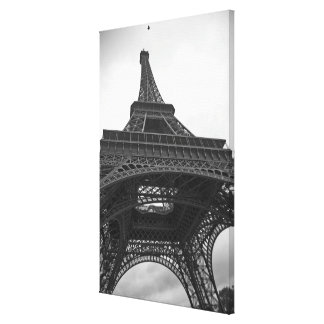 Black and white photograph of the Eiffel Tower Canvas Prints