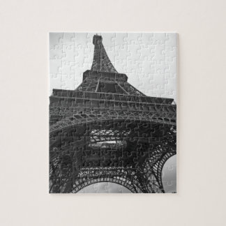 Black and white photograph of the Eiffel Tower Puzzle