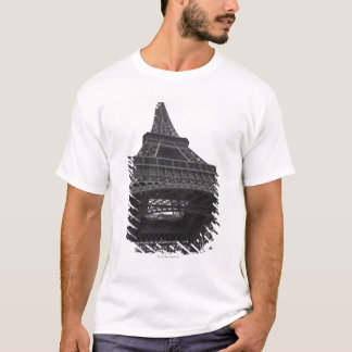 Black and white photograph of the Eiffel Tower T-Shirt