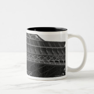 Black and white photograph of the Eiffel Tower Two-Tone Coffee Mug