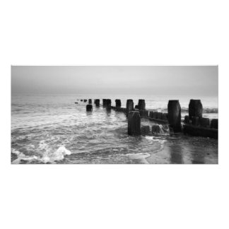 """Black and white photography – """"Seaside breakers"""" Photograph"""