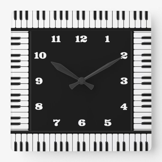 Black And White Piano Decorative Wall Clock